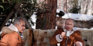 Путин пусна видео как си почива с Шойгу в Сибир