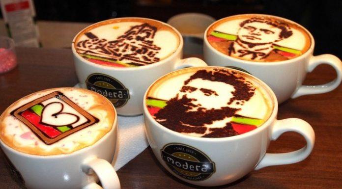 Барман от Варна рисува Левски и Ботев върху кафе